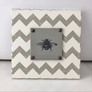 Other - Chevron Bee Stand-up Wood sign